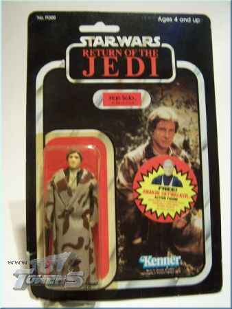 Han Solo Trench Coat ROTJ 77 Back mit Emperor Offer